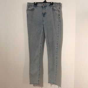 New Look tall skinny high waisted jeans raw hems